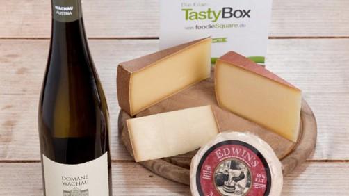 Tastybox Käse und Wein
