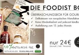 Foodist Box Lebensmittel Abo für Feinschmecker