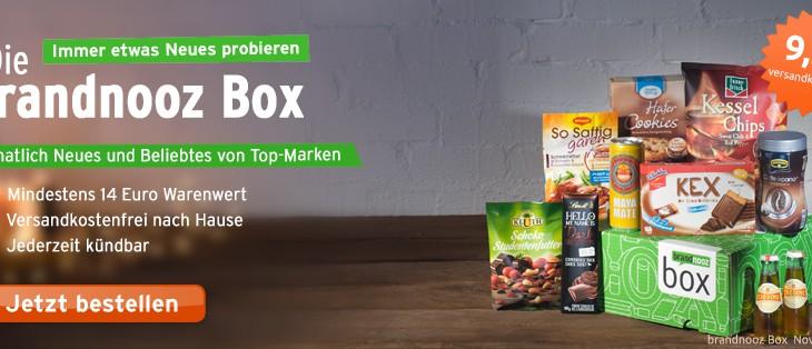 Brandnooz Box für 10 Euro – mit aktuellen Brandnooz Gutschein